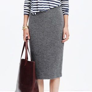 Madewell Pillar midi pencil skirt, size 8